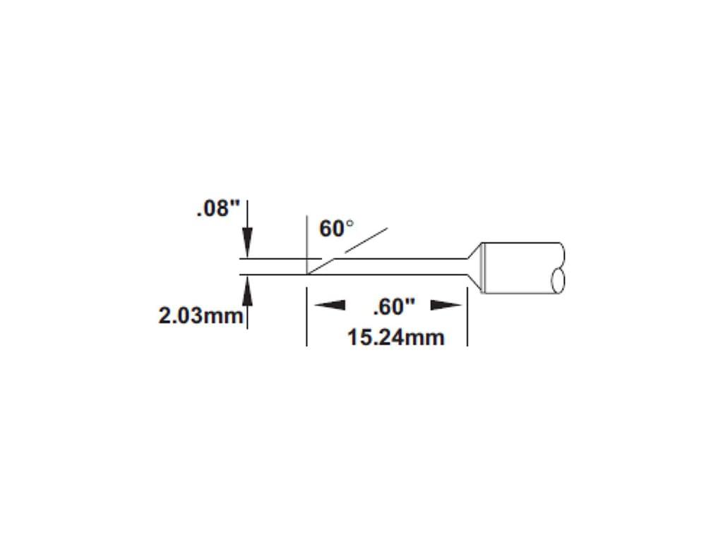 Metcal SMTC-102 Series SMTC Hand Soldering Rework Cartridge for Most Standard Application Slot 412/°C Maximum Tip Temperature 1210 Chip Type 1206
