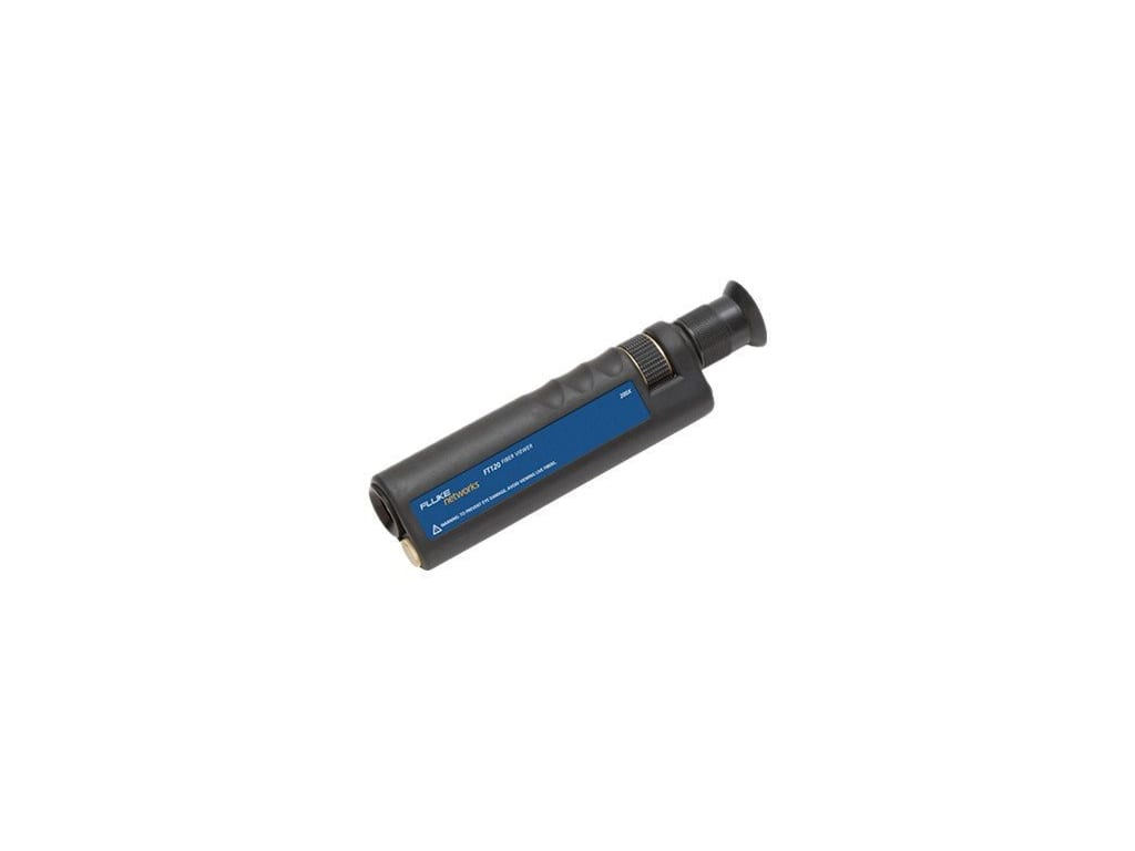 Fluke Networks FT120 Handheld FiberViewer Microscope Fiber Tester 200x Magnification with 2.5mm Universal Adapter