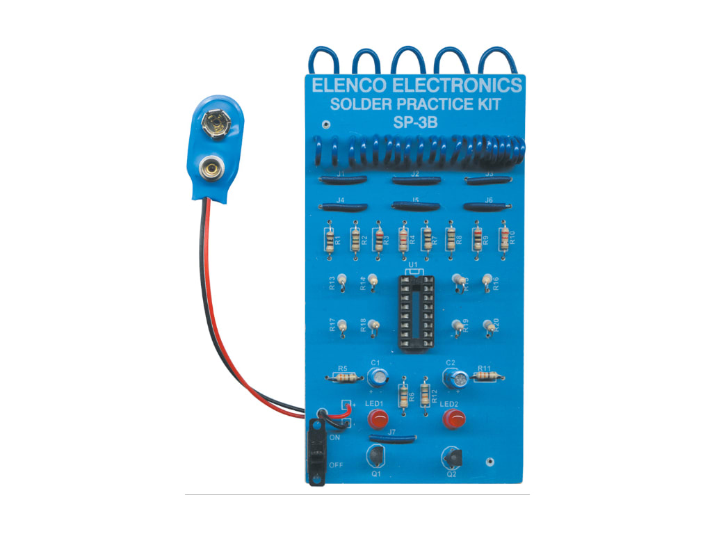 Elenco SP-3B Learn to Solder Practical Soldering Project Kit