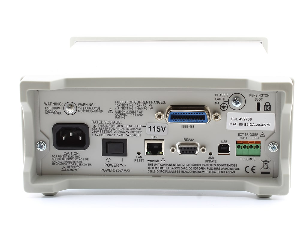 Tti 1908p Dual Measurement Bench Multimeter With Usb Rs232 Lan Lxi And Gpib Interfaces