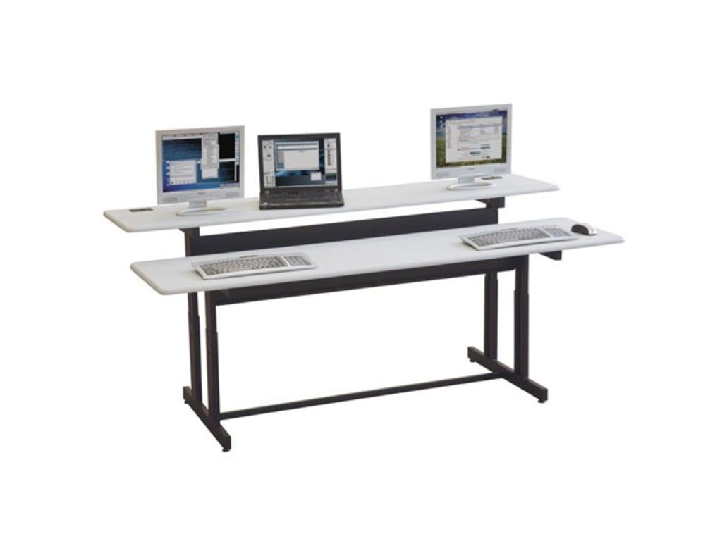 Mooreco Balt 83080 Split Level Workstation 72 Quot W Gray