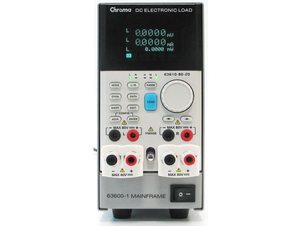 Chroma 63610-80-20 Load Module 20A/80V/100W Dual Channel