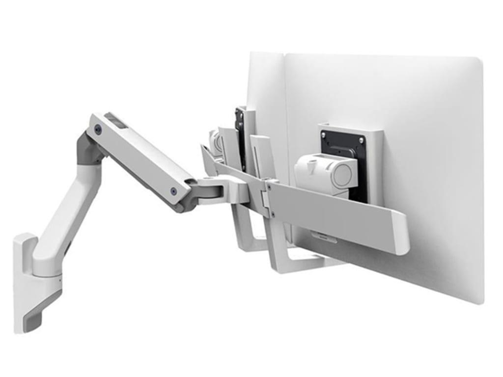 Ergotron 45 479 216 Hx Wall Dual Monitor Arm White