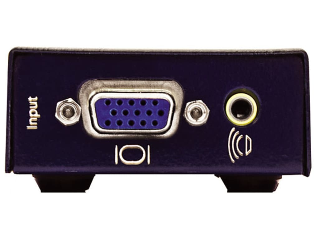 Tx//Rx Smartavi MINI-XTS VGA Extender with Audio over Cat5e//6 up to 1000 ft