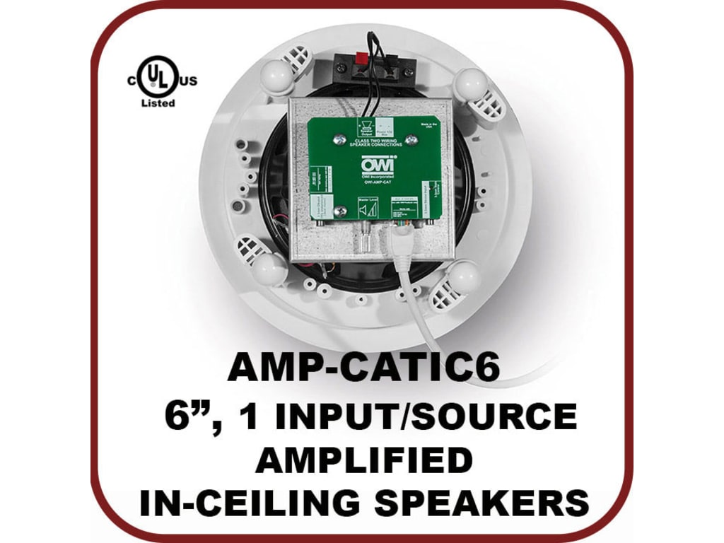 Owi Amp Catic62 6 Quot Integratable Amplified In Ceiling