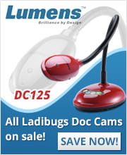 Lumens document cameras on sale now