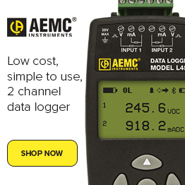 Data Logger Model L452 (2-Channel, w/LCD, 100mV/1V/10VDC, 4 to 20mADC, Event and Pulse, DataView Software)
