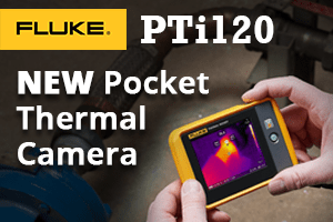 Fluke PTi120 120x90 pocket thermal camera