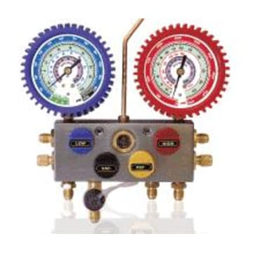 Mastercool 96361 4-Way Manifold Gauge Set with 60 Hose