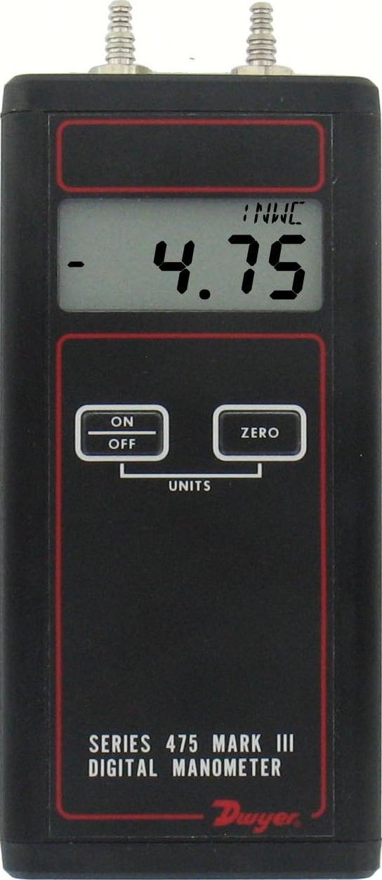 DWYER INSTRUMENTS 477AV-8 Manometer Kit,Digital,150 psi