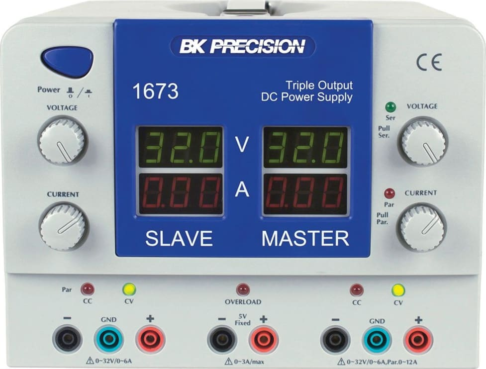 BK 1673 Quad Display Triple Output DC Power Supply