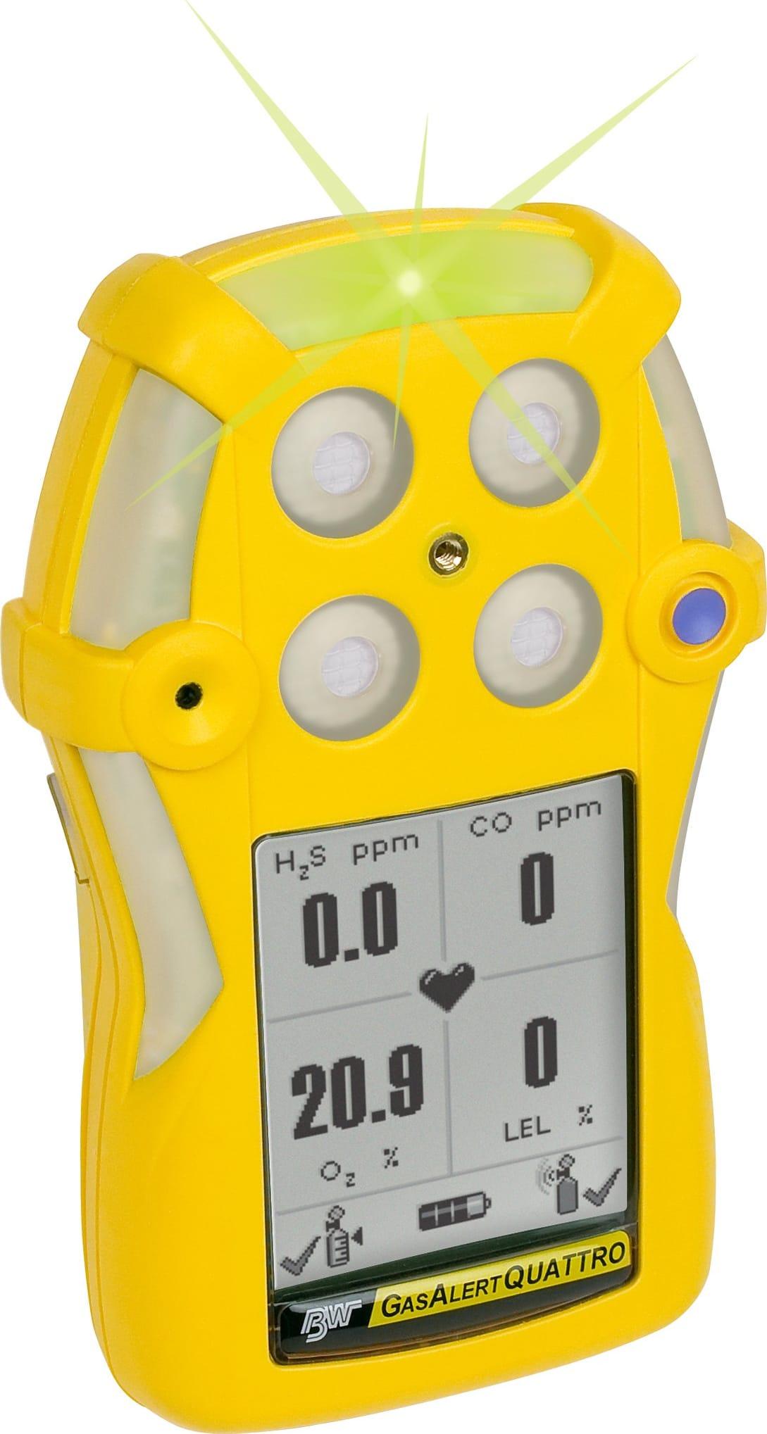 BW QT-XWHM-R-Y-NA GasAlertQuattro Gas Detector LEL, O2, H2S