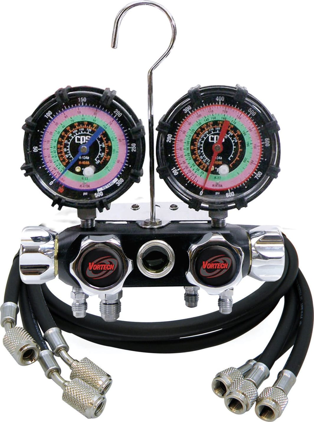 BLACKMAX MV4H4P5EZ Mechanical Manifold Gauge Set,4 Valves