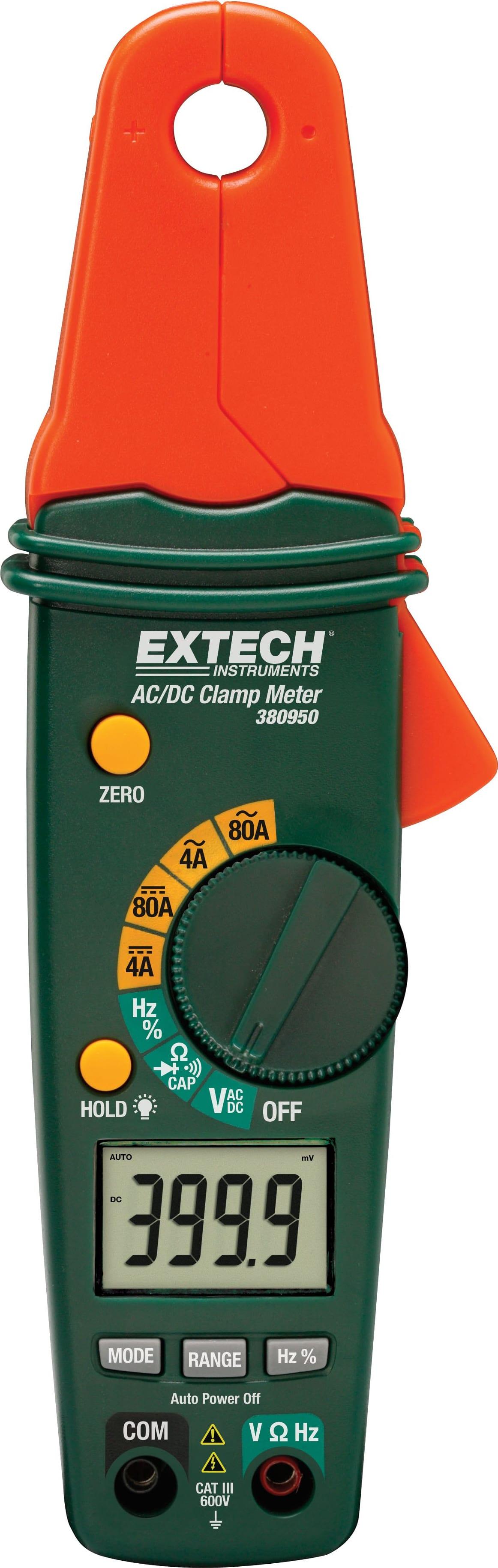 Extech 380950 Mini AC//DC 80A Clamp Meter EXTECH380950