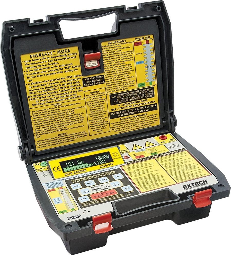 EXTECH 380260 Battery Operated Megohmmeter,1000V