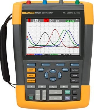 Fluke 190-504/AM/S Color ScopeMeter, 500 MHz, 4 channels