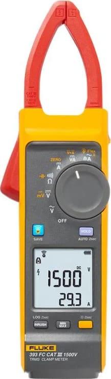 Fluke 393 FC - CAT III 1500V TRMS Wireless Clamp Meter with iFlex (999.9 A AC/DC)