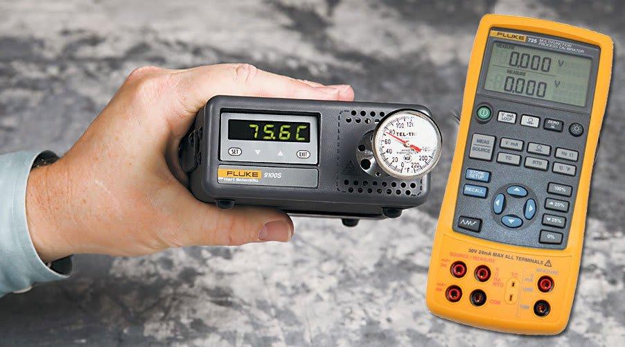 Fluke Calibration 9100S//725-KIT Hi-Temp Dry-Well /& Process Calibrator Bundle
