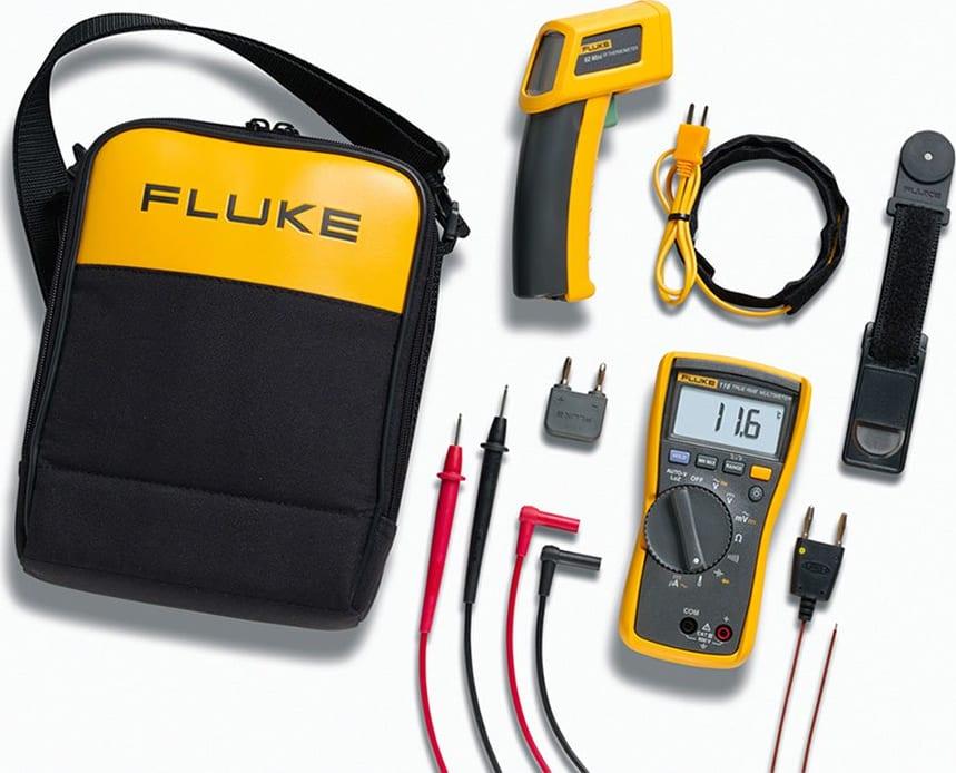 Fluke 116/62 Max  116 HVAC Multimeter and 62 MAX  Infrared Thermometer Kit