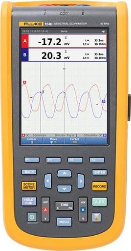 Fluke 124B Industrial ScopeMeter Handheld Oscilloscope