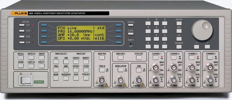 Fluke 284-U 115V 40MS/S 4CH Universal Waveform Generator