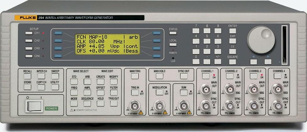 Fluke 294-U 115V 4 Channel 100MS/s Universal Waveform Generator