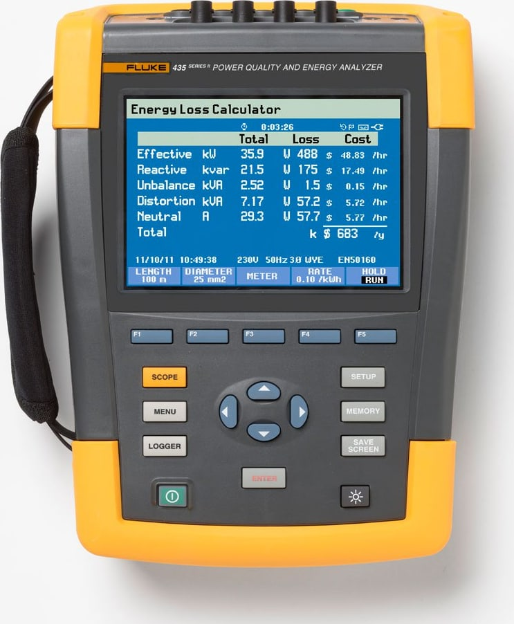 Fluke 435-II Advanced PQ and Energy Analyzer