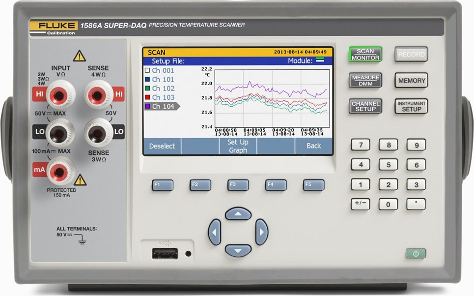Fluke 1586A Series Super-DAQ Precision Temperature Scanner