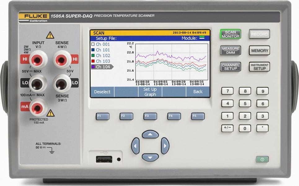 Fluke 1586A Series Super-DAQ Precision Temperature Scanner