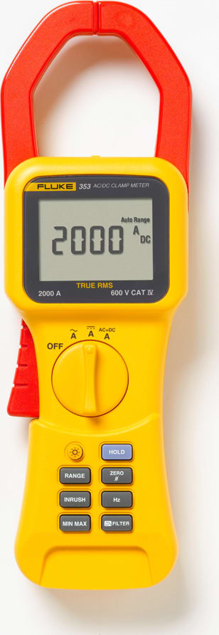 Fluke 353 AC/DC TRMS Clamp Meter,2000A,AMPS only