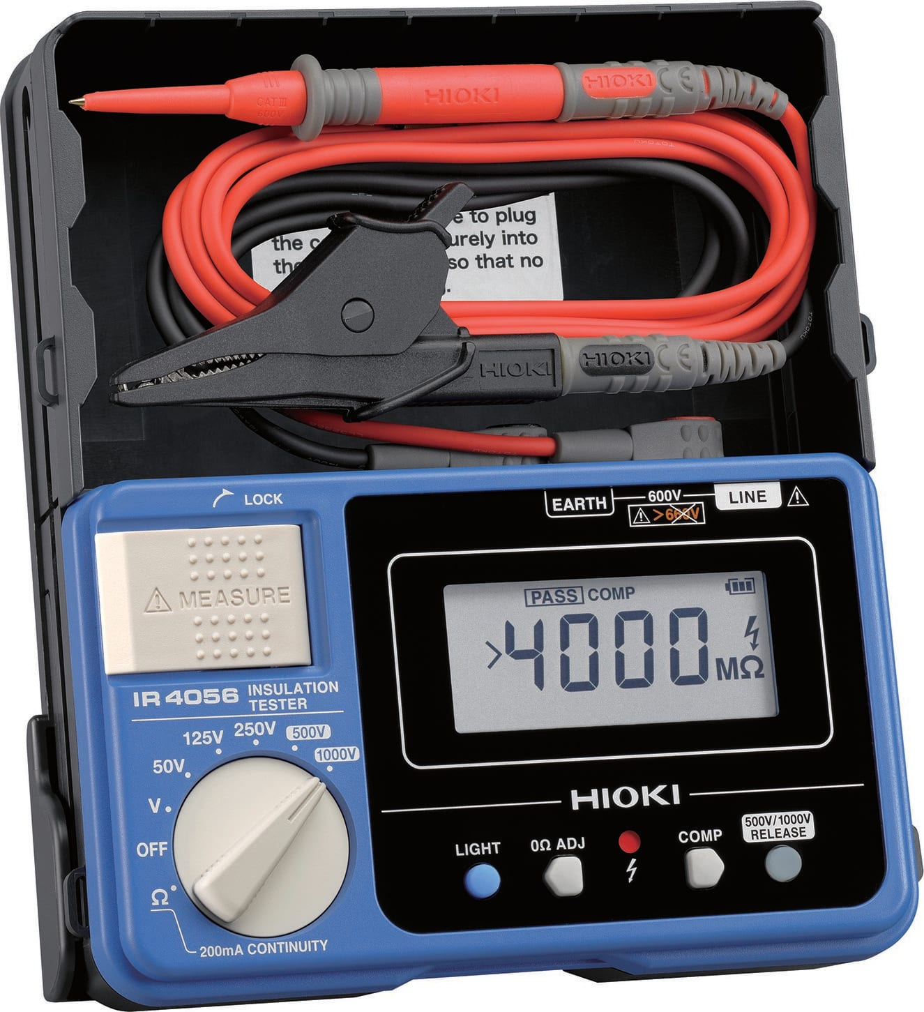 250V to 5000V Hioki IR3455-01 5-Range High Voltage Insulation Tester