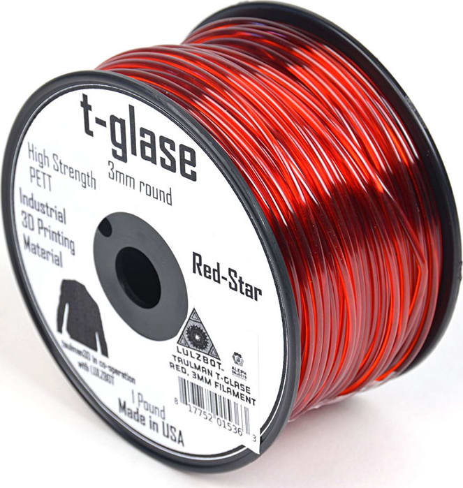 Lulzbot RM-PE0002 T-glase Filament - Red