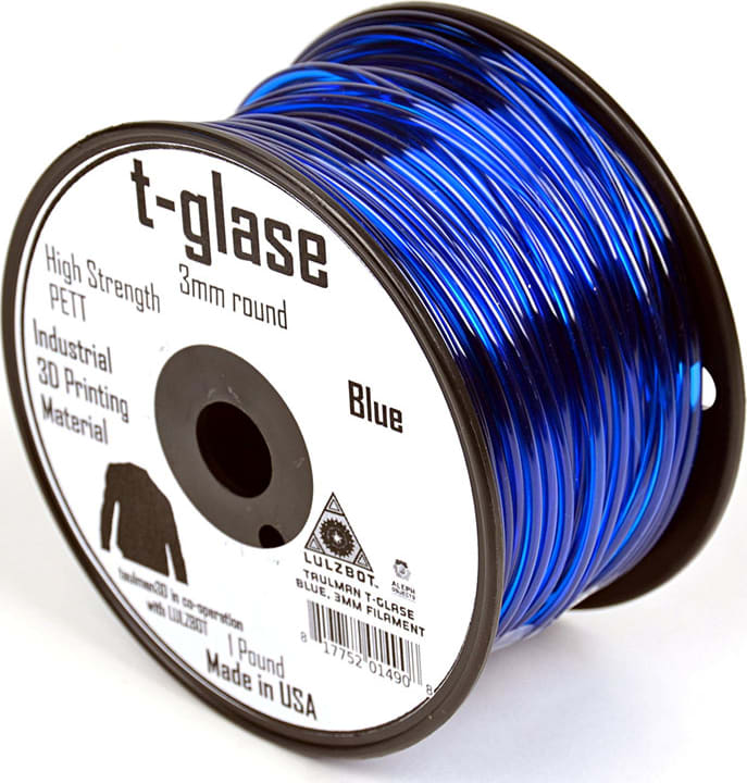 Lulzbot RM-PE0003 T-glase Filament - Blue