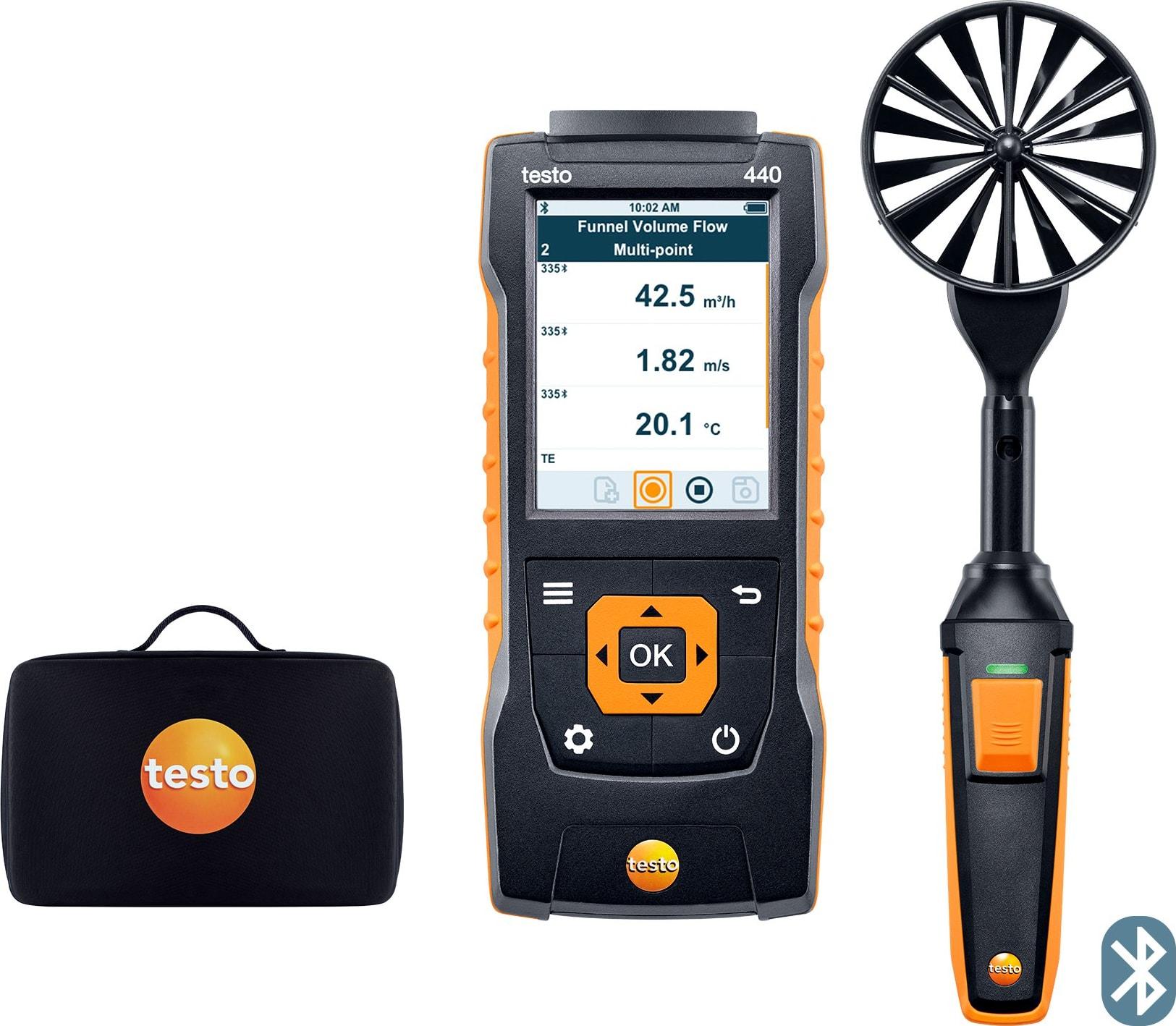 "Testo 440 Vane Kit with Bluetooth (3.9"", 100mm) - Part Number 0563 4403"