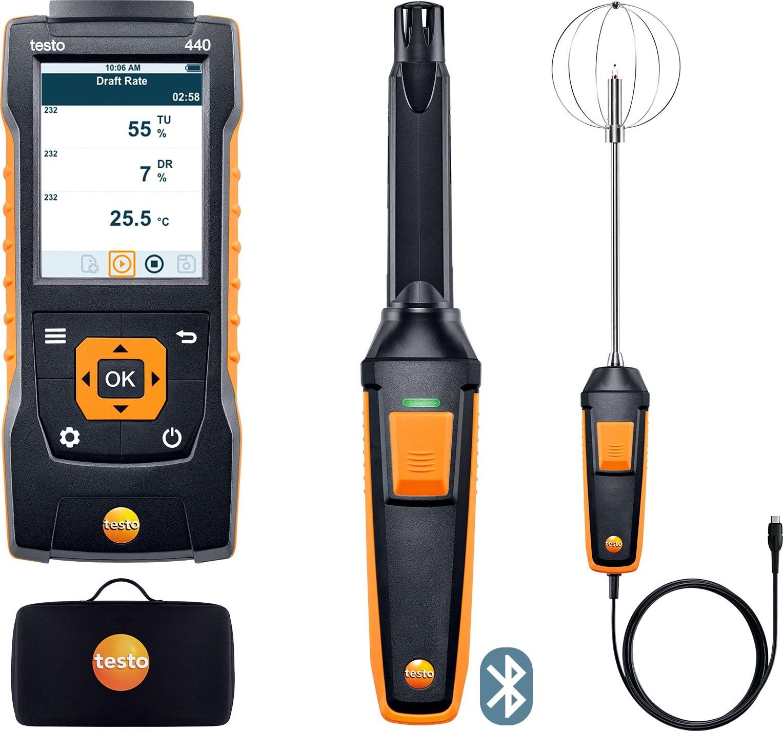 Testo 440 Indoor Comfort Kit with Bluetooth - Part Number 0563 4408