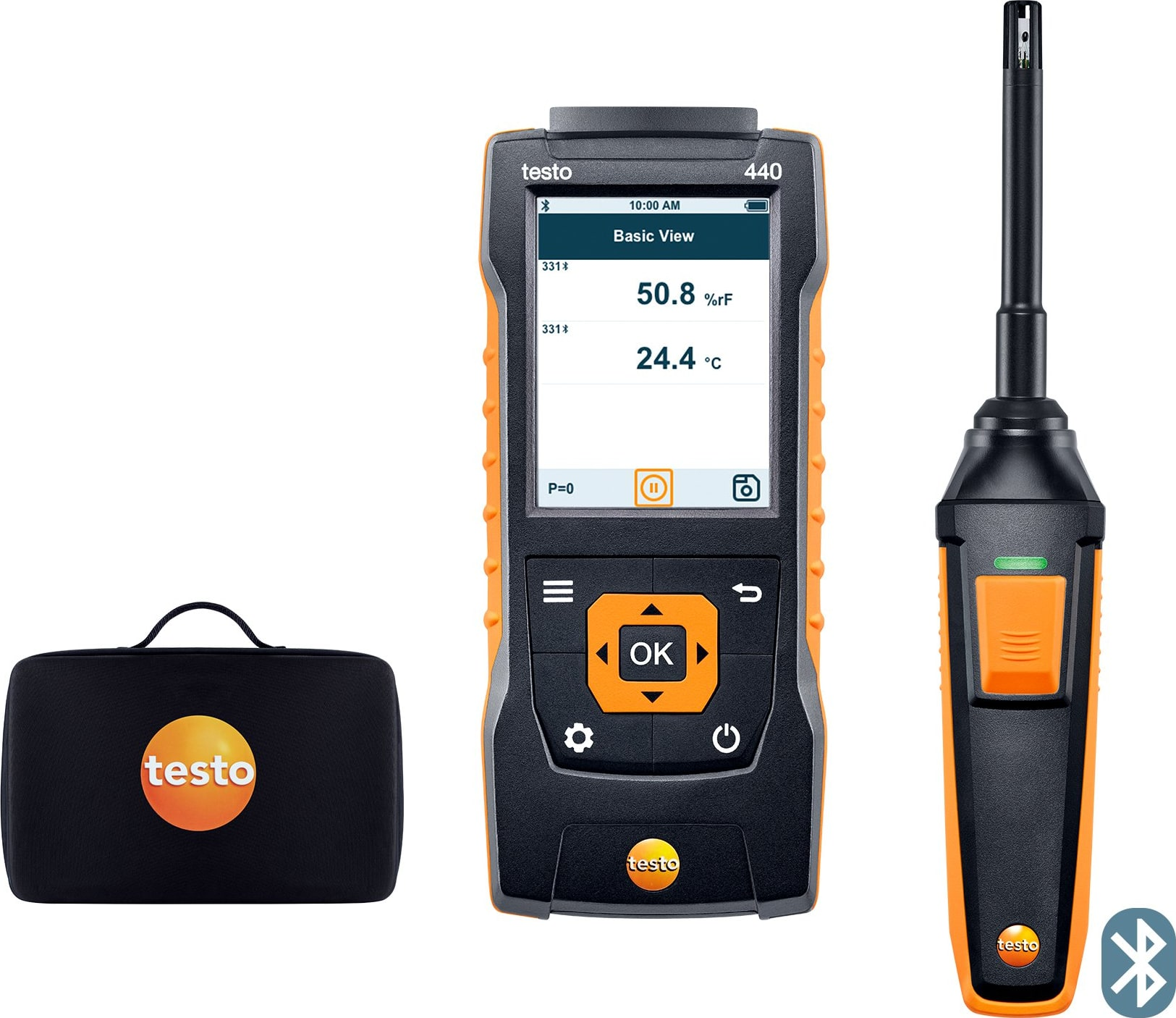"""Testo 440 Humidity Kit with Bluetooth (0.47"""") - Part Number 0563 4404"""