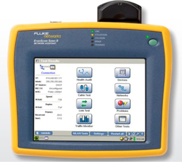 FLUKE Networks EtherScope Series II Network Assistant w// Case