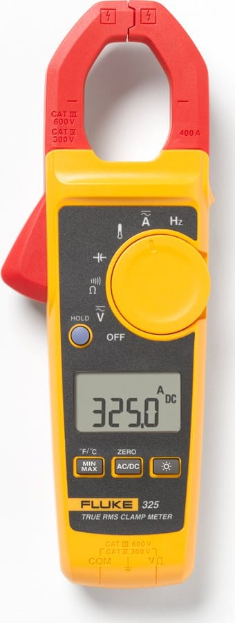 Fluke 325 400A AC/DC TRUE RMS Clamp Meter with temp