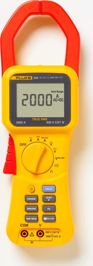 Fluke 355 AC/DC TRMS Clamp Meter,2000A