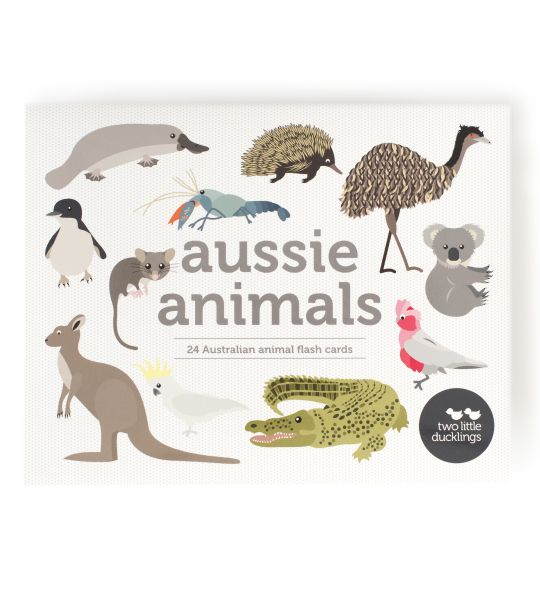 Two Little Ducklings - Australian Animals Flash Cards