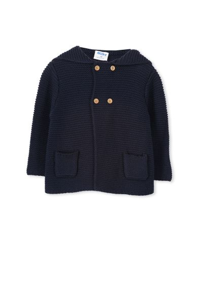 Milky - Navy Knit Jacket