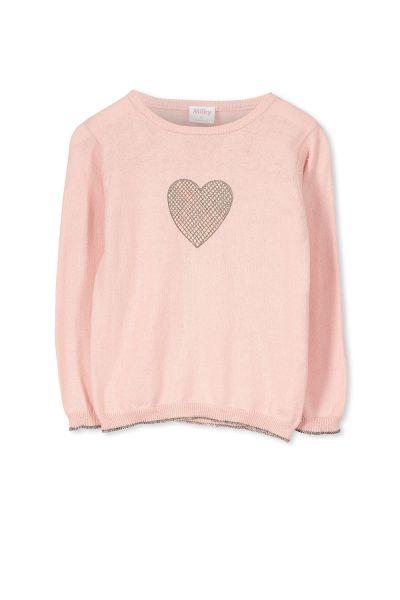 Milky - Heart Knit