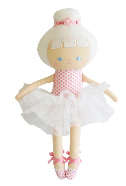 Alimrose - Baby Ballerina Doll Pink Spot
