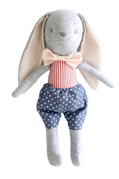 Alimrose - Louise Bunny Toy Rattle French Blue