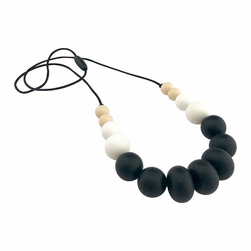 Nature Bubz - UNITE Silicone necklace black