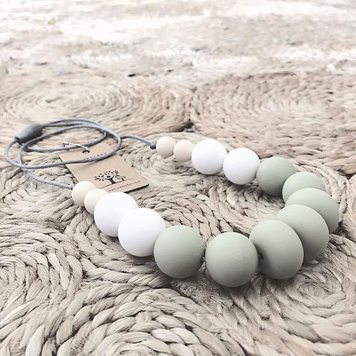 Nature Bubz - UNITE Silicone necklace moss