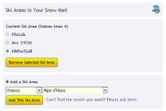 Snow Reports by e-mail - New Ski Resorts