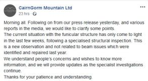 Re:More Problems at Aviemore Ski Area as Funicular Closed Indefinitely