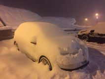 Snow Starts to Accumulate in the Alps