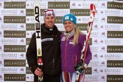 Crawford and Alcott take National Super G wins
